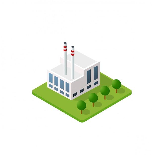 O edifício inteligente em casa Vetor Premium