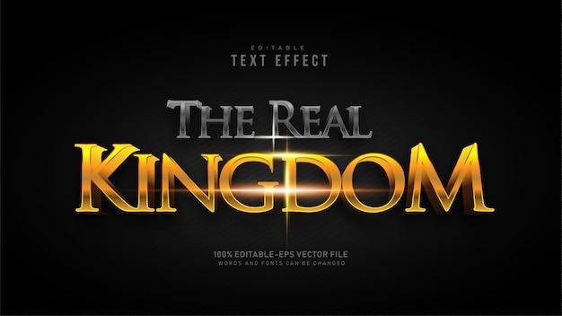 O efeito de texto do reino real Vetor grátis
