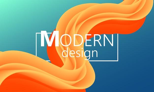 O fluxo de fluido. forma de cor moderna. fundo abstrato. cartaz futurista. capa de gradiente colorida. . Vetor Premium