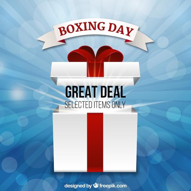 O grande negócio do dia do boxe em itens selecionados Vetor grátis
