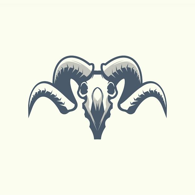 O ícone de caveira de carneiro Vetor Premium