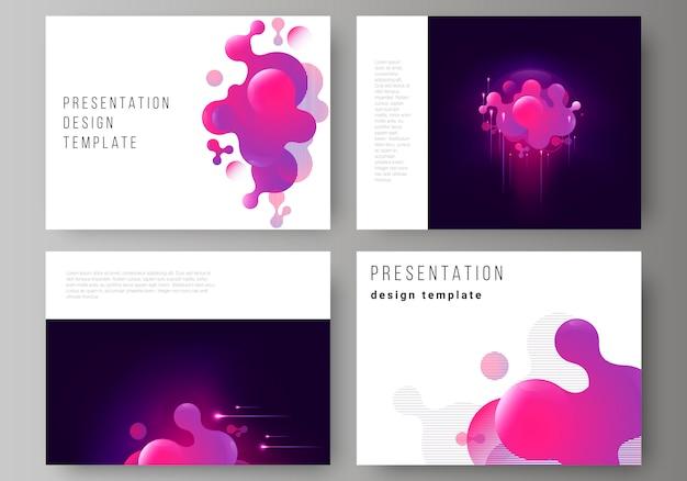 O layout da apresentação desliza modelos de negócios Vetor Premium