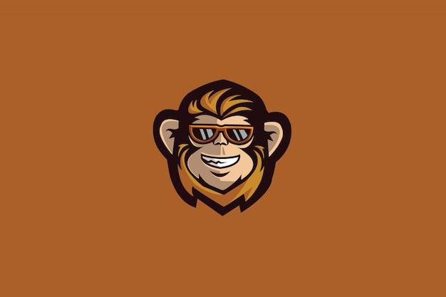 O logotipo do monkey e sports Vetor Premium
