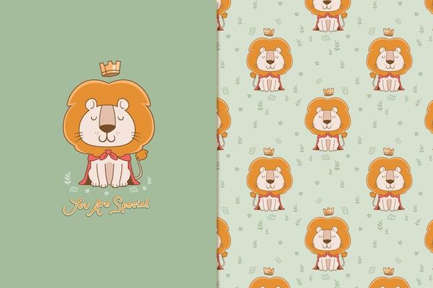 O padrão do rei leão Vetor Premium