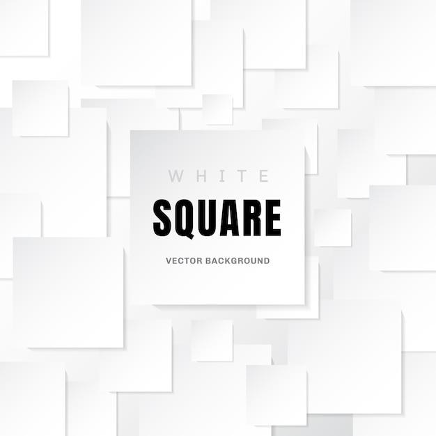 O papel branco do molde esquadra o fundo branco Vetor Premium