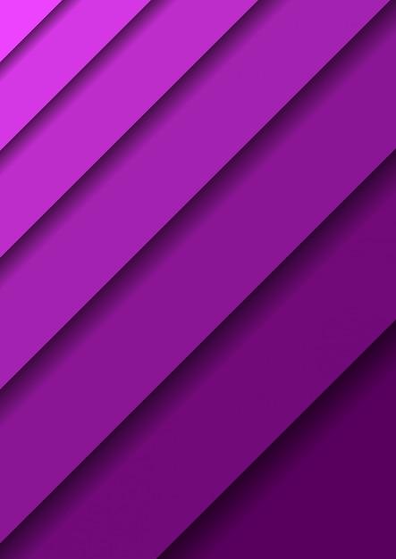 O papel cortou o fundo com as camadas violetas abstratas 3d que cobrem uma sobre a outra diagonalmente e sombras. Vetor Premium