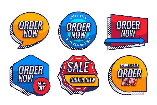 O pedido promocional agora rotula a coleção Vetor Premium