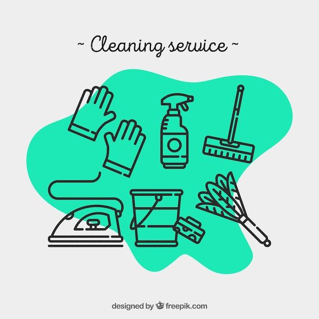 O serviço de limpeza para o hospital Vetor Premium