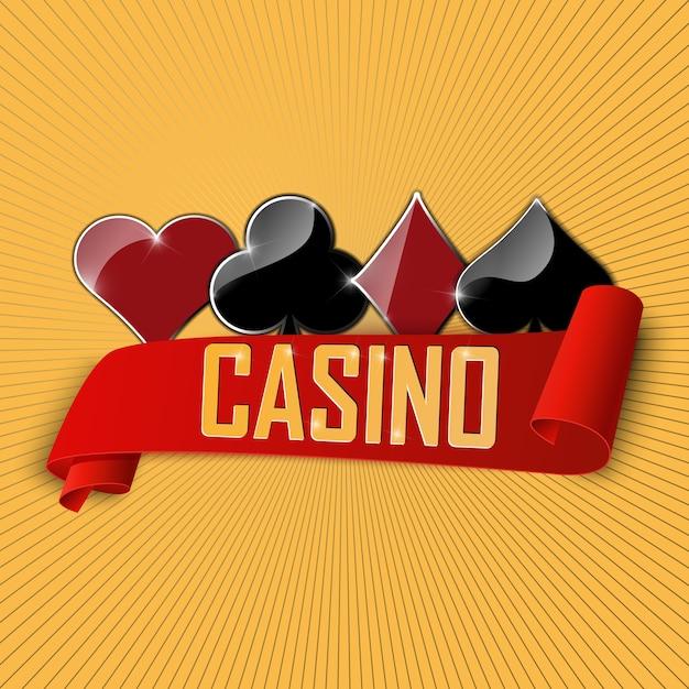 O sinal para casino e clube de poker. Vetor Premium