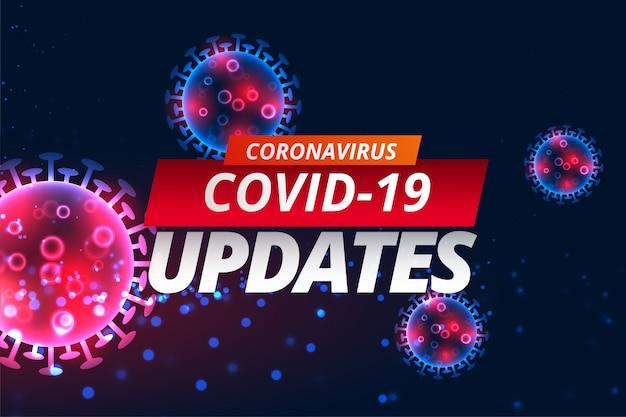 O vírus corona covid-19 atualiza o design do banner de notícias Vetor grátis