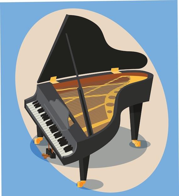 Objeto de música ilustração vetorial para design Vetor Premium