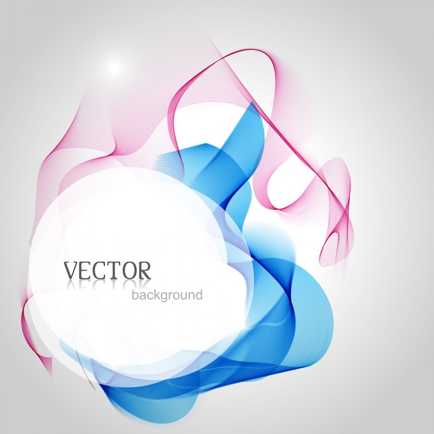 Obra de arte atraente colorido da onda elegante Vetor grátis