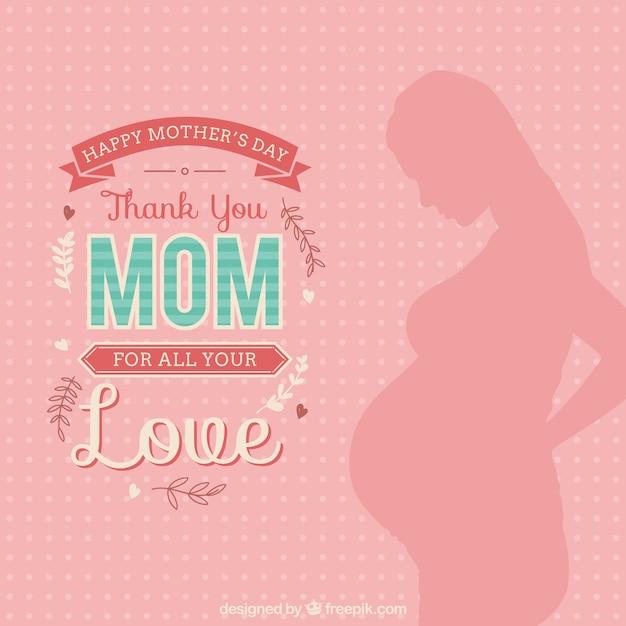 Obrigado cartão da mamã Vetor grátis