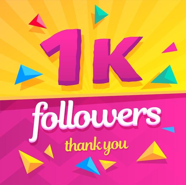 Obrigado seguidores Vetor Premium