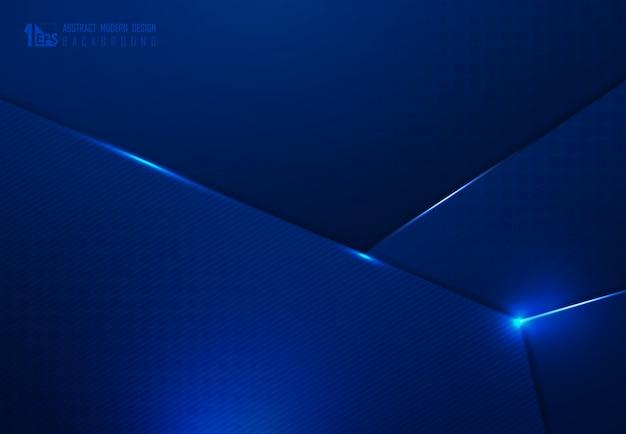 Obscuridade abstrata do inclinação da tecnologia - projeto azul do fundo do molde da arte finala da sobreposição. Vetor Premium