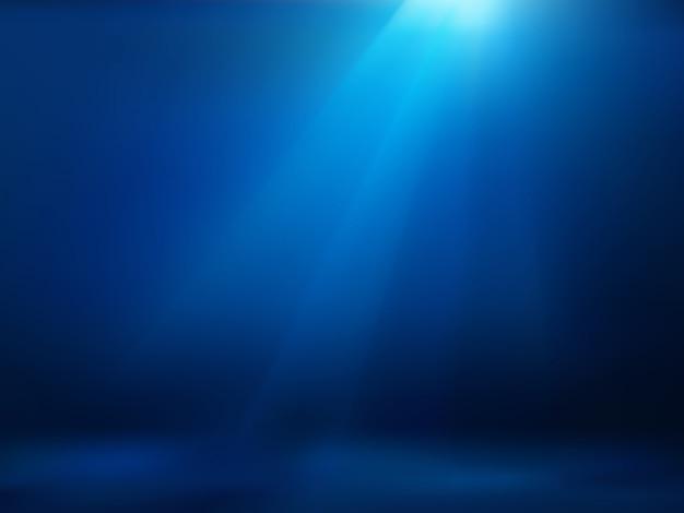 Oceano subaquático Vetor Premium