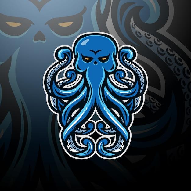 Octopus logo esport Vetor Premium