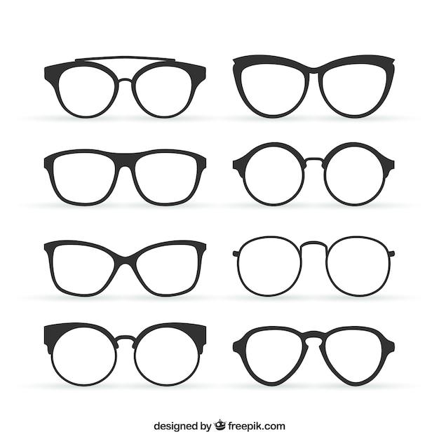 Óculos em estilo retrô Vetor grátis