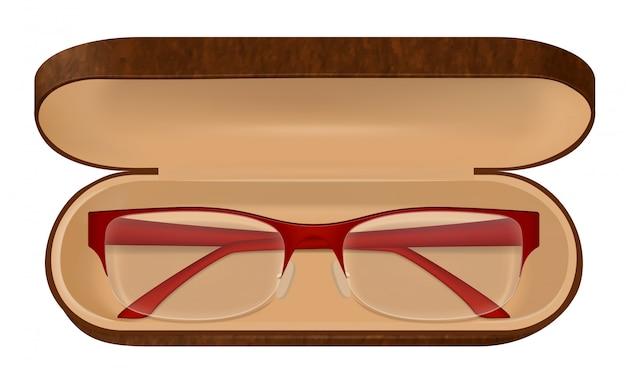 Óculos em ilustração de caso Vetor grátis
