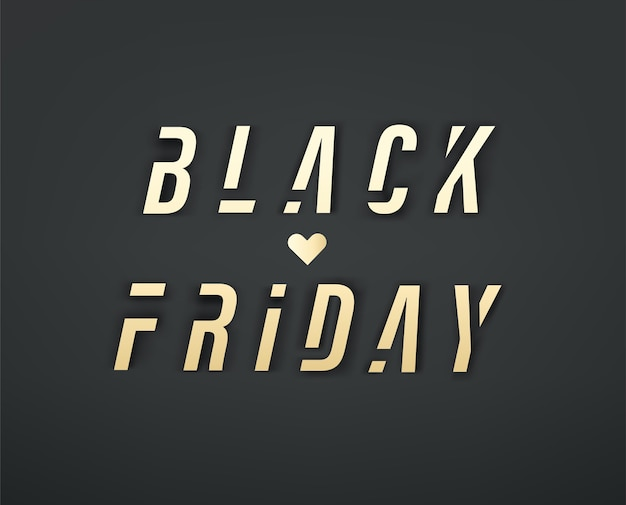Oferta especial de liquidação da black friday Vetor Premium