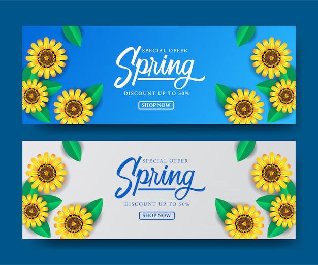 Oferta especial primavera oferta temporada Vetor Premium