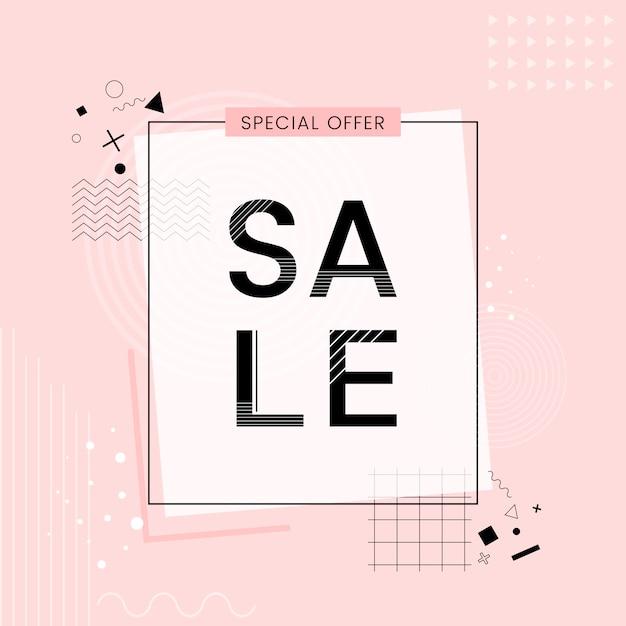 Oferta especial venda promoção vector Vetor grátis