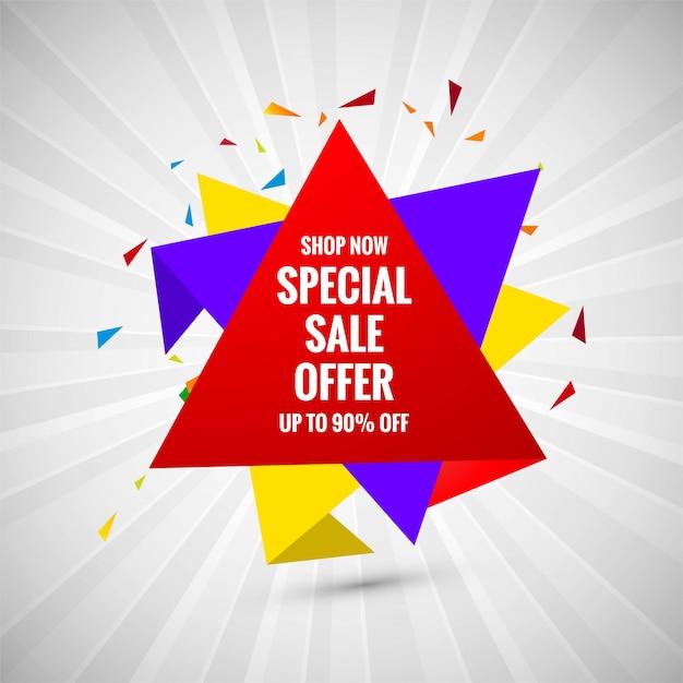 Oferta especial venda venda banner design criativo Vetor grátis