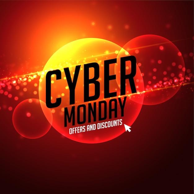 Oferta futurista de cyber segunda-feira e fundo de desconto Vetor grátis