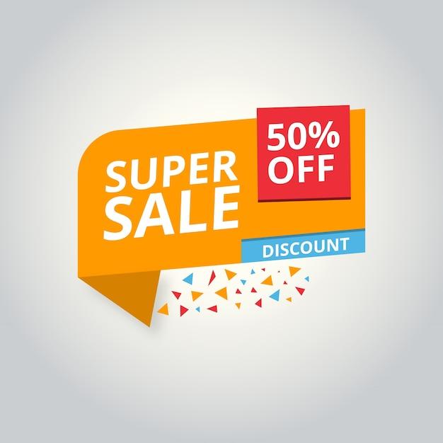 Oferta limitada mega venda banner venda poster grandes ofertas de oferta especial desconto 50 off ilustração vetorial Vetor grátis