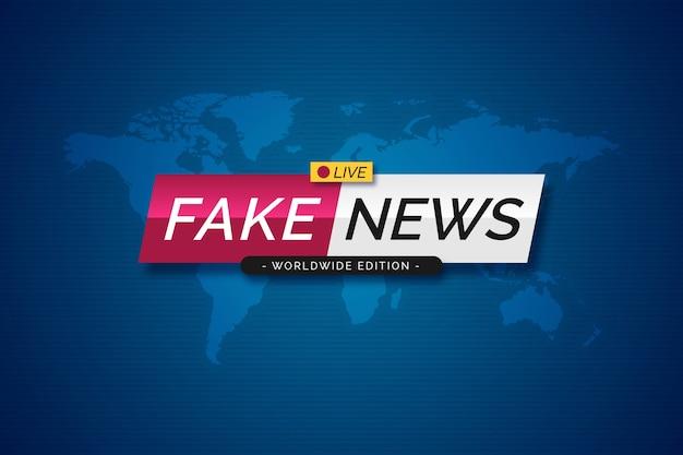 Oficial divulgando banner de notícias falsas Vetor grátis