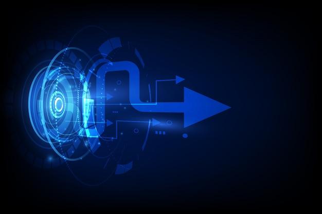 Oi tecnologia conexão futurista fundo de velocidade Vetor Premium