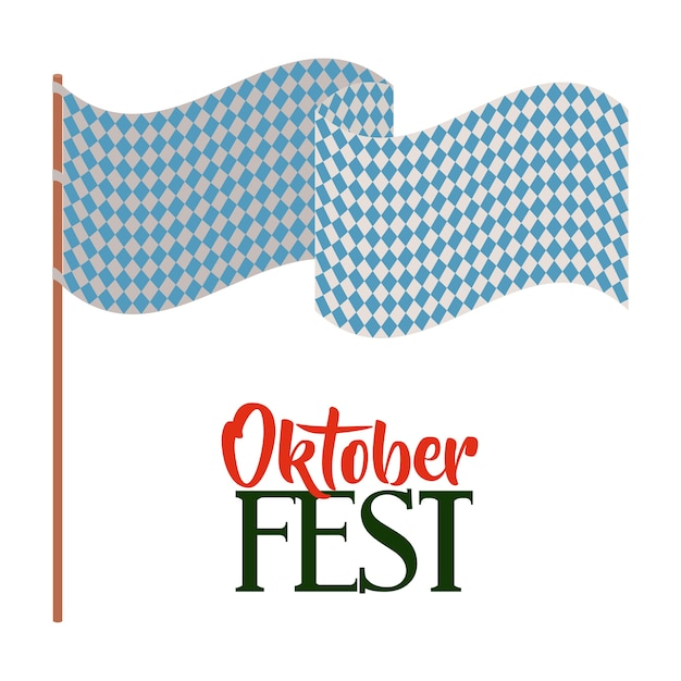 Oktober fest invitation cartaz vector ilustração design Vetor Premium