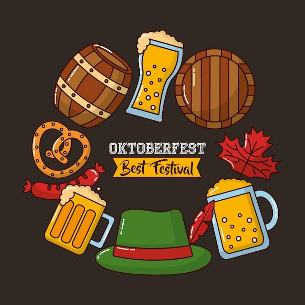 Oktoberfest alemanha celebração Vetor grátis