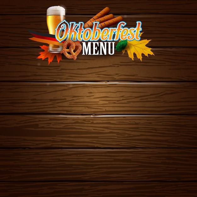Oktoberfest cartaz ou clipart de modelo de menu Vetor Premium
