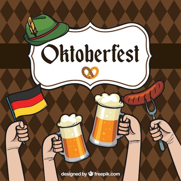 Oktoberfest, celebração Vetor grátis