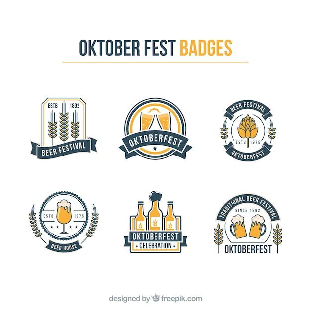 Oktoberfest gráficos logos vector pacote Vetor grátis