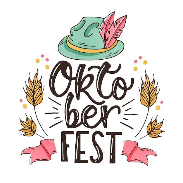 Oktoberfest tradicional de chapéu e letras Vetor grátis