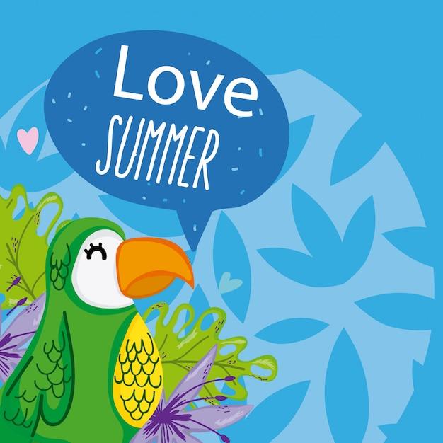 Olá cartoons de verão Vetor Premium