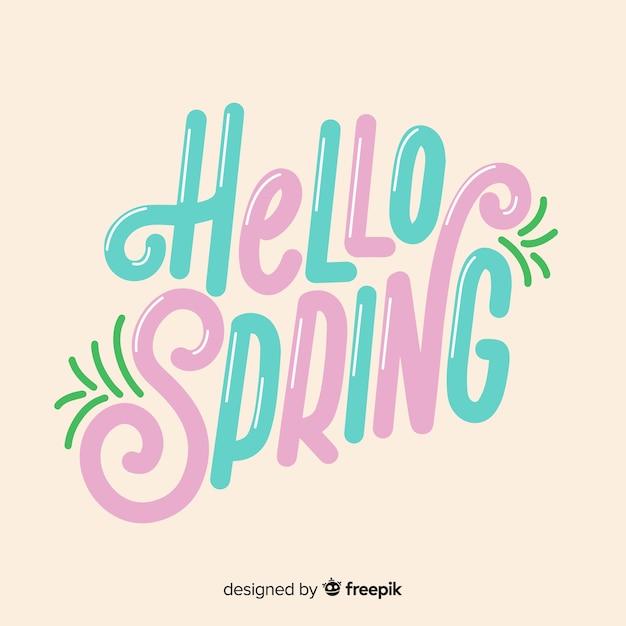Olá primavera Vetor grátis
