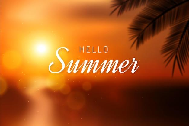 Olá turva fundo de verão Vetor grátis