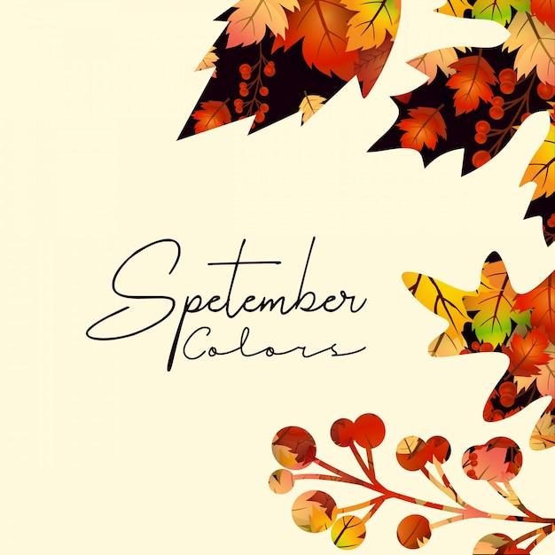 Olá vector de design de outono temporada de outono Vetor grátis