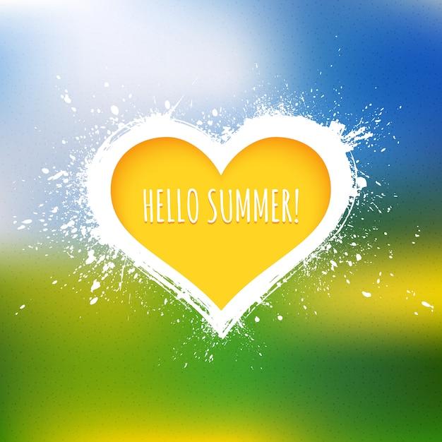 Olá verão vetor abstrato Vetor Premium