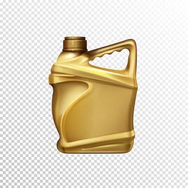 Óleo de motor, lubrificante de carro ou gasolina aditivo garrafa de plástico em branco modelo de vetor realista 3d iso Vetor grátis