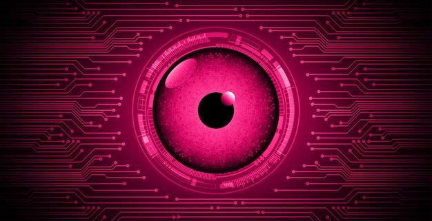 Olho-de-rosa no fundo do cyber Vetor Premium