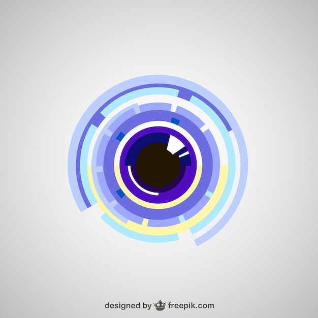 Olho tecnológico Vetor Premium