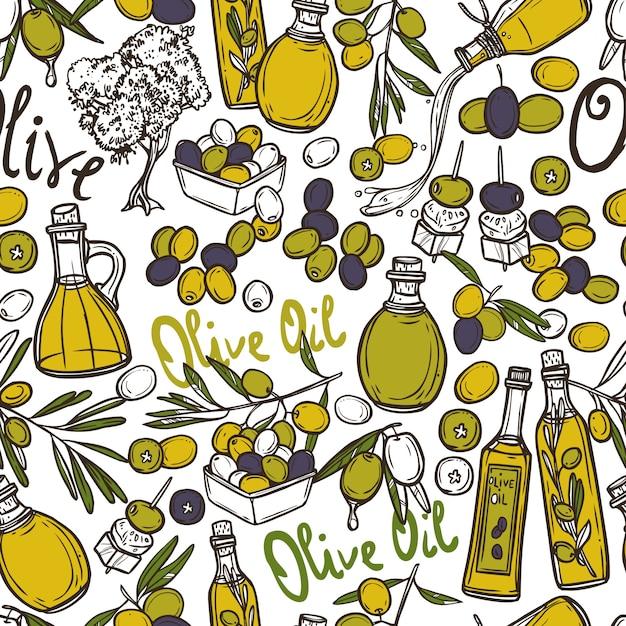 Olive padrão sem emenda Vetor grátis
