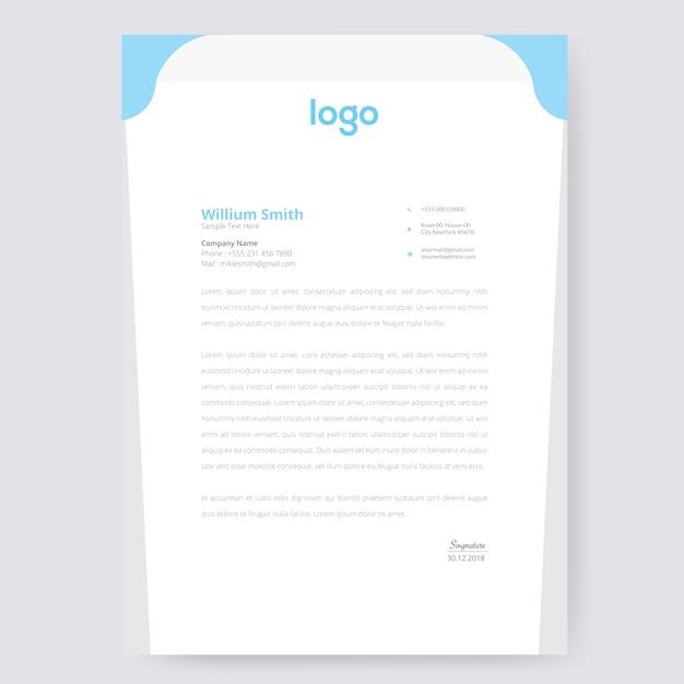 Onda design de papel timbrado Vetor Premium