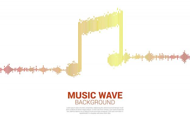 Onda sonora fundo de equalizador de música. Vetor Premium