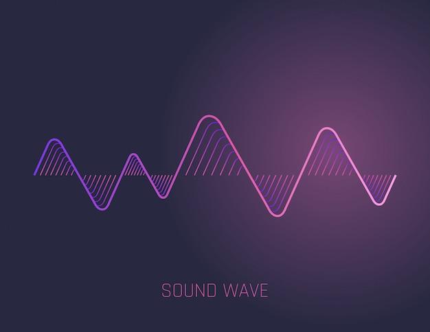 Ondas sonoras de música Vetor Premium