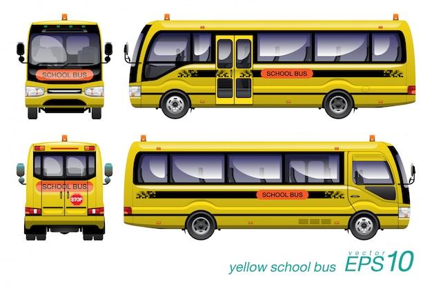 Ônibus escolar Vetor Premium